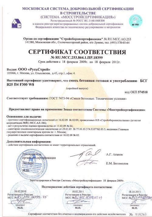 Сертификация бетона сертификация оборудования тюнинг рено логан
